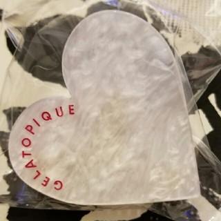 ジェラートピケ(gelato pique)のジェラートピケ ハートクリップ  ホワイト 新品未使用品(その他)