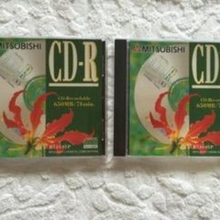 ミツビシ(三菱)の未開封 MITSUBISHI CD-R 2枚 送料無料(PC周辺機器)