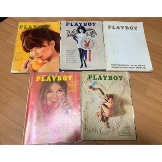 プレイボーイ(PLAYBOY)の1960s / 1970s Playboy Magazine マガジン5本セット(アート/エンタメ/ホビー)