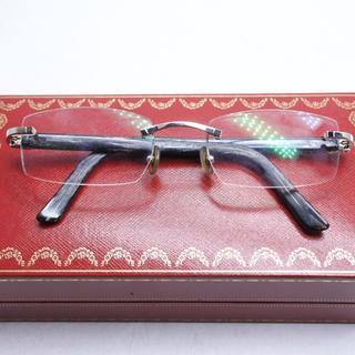 カルティエ(Cartier)のカルティエ Cartier ブラック 激レア 水牛 バッファローホーン メガネ(サングラス/メガネ)