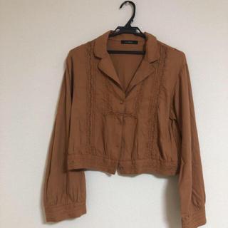 ダブルクローゼット(w closet)の茶色 シャツ(シャツ/ブラウス(長袖/七分))