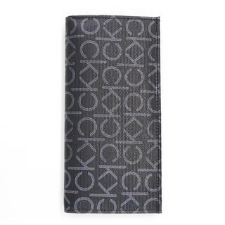 カルバンクライン(Calvin Klein)の新品 カルバンクライン 長財布 小銭入れ付き 二つ折り財布 ck モノグラム 黒(財布)