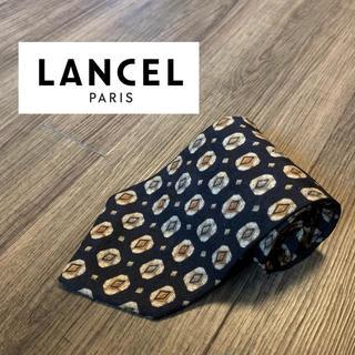 ランセル(LANCEL)のLANCEL ランセル ブランド ネクタイ ブラック ドット ビジネス 美品(ネクタイ)