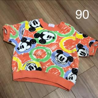 ディズニー(Disney)のミッキー 半袖トレーナー(Tシャツ/カットソー)