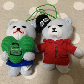 ビッグバン(BIGBANG)のKRUNK×BIGBANG TOPぬいぐるみマスコット2個セット(アイドルグッズ)