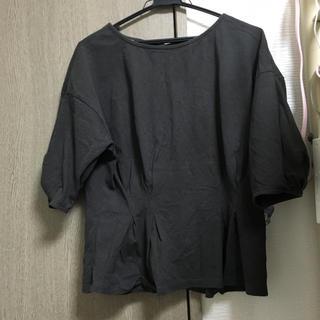 ダブルクローゼット(w closet)のチュニック風 バックリボントップス ダブルクローゼット (シャツ/ブラウス(半袖/袖なし))