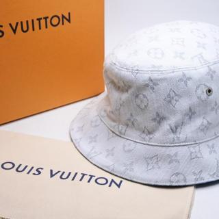 ルイヴィトン(LOUIS VUITTON)のLOUIS VUITTON ルイヴィトンシャポー・モノグラムデニム ハット 帽子(ハット)