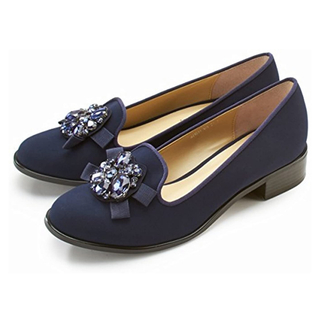 マーキュリーデュオ(MERCURYDUO)のMERCURYDUO ビジュー調オペラシューズ(ローファー/革靴)