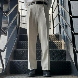 ジョンローレンスサリバン(JOHN LAWRENCE SULLIVAN)のヴィンテージ スラックス トラウザー ワイドパンツ オフホワイト(スラックス)