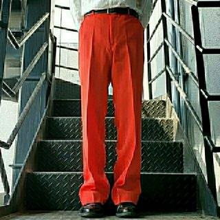 ジョンローレンスサリバン(JOHN LAWRENCE SULLIVAN)のヴィンテージ スラックス トラウザー ワイドパンツ レッド(スラックス)