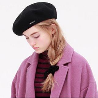アニエスベー(agnes b.)のTo b. by agnes b. ベレー帽 黒(ハンチング/ベレー帽)