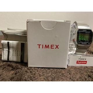 シュプリーム(Supreme)のsupreme timex シュプリーム タイメックス シルバー 腕時計(腕時計(デジタル))
