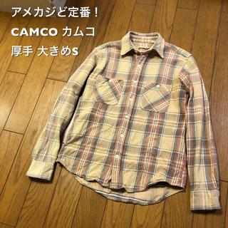 カムコ(camco)の大きめS!CAMCO カムコ 古着長袖ネルシャツ 厚手インド製 アメカジど定番!(シャツ)