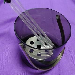 トウヨウササキガラス(東洋佐々木ガラス)の国産セミレッドクリスタル アイスペール(アルコールグッズ)