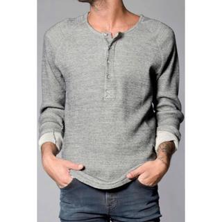ヌーディジーンズ(Nudie Jeans)のNudie Jeans LS HENLY Grey Melange(Tシャツ/カットソー(七分/長袖))