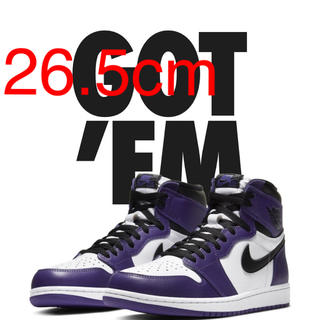 ナイキ(NIKE)のNIKE AIR JORDAN 1 COURT PURPLE 26.5(スニーカー)