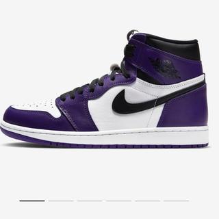 ナイキ(NIKE)のNIKE AIR JORDAN1 purple パープル AJ1(スニーカー)
