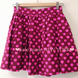 ケイトスペードニューヨーク(kate spade new york)のkate spade*アップル柄スカート(ミニスカート)