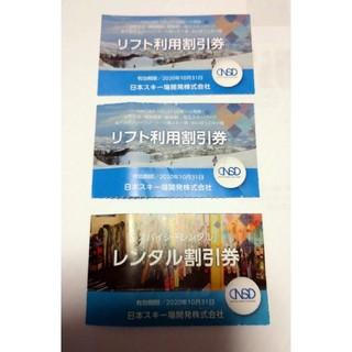 日本駐車場開発 リフト利用割引券2枚(スキー場)