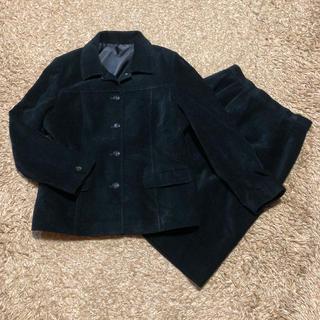 クレージュ(Courreges)の値下げ交渉OK クレージュ スカートスーツ S〜M ブラック 秋冬物(スーツ)