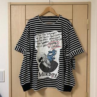 ミルクボーイ(MILKBOY)の【値下げ】MILKBOY スリットスリーブTee(Tシャツ/カットソー(七分/長袖))
