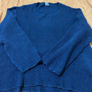 テンダーロイン(TENDERLOIN)のアンドファミリー インディゴ ワッフル ロンT L (Tシャツ(長袖/七分))