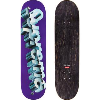シュプリーム(Supreme)のsupreme Chrome Logo Skateboard Purple(スケートボード)