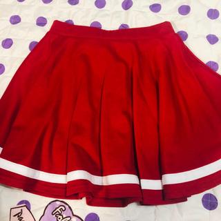 レピピアルマリオ(repipi armario)の赤 レッドライン入りスカート(ミニスカート)