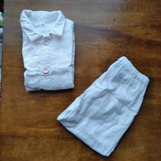 ムジルシリョウヒン(MUJI (無印良品))のセール 無印 100-110 ピンクストライプパジャマ(パジャマ)