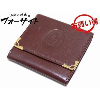 Cartier - カルティエ☆ボルドー系 マスト レザー ホック式 コインケース