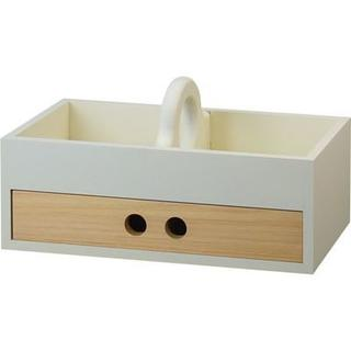 売り切れ 日本製 檜の小物入れ 1つ引 トレータイプ T5496 コスメボックス(メイクボックス)