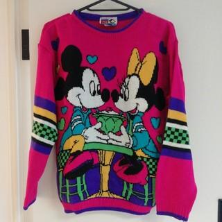 ディズニー(Disney)のミッキー ミニー 古着ニット(ニット/セーター)