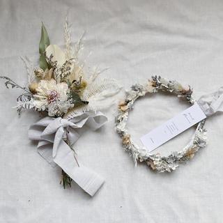 re様専用 ドラフラワーの花冠とスワッグセット(ブーケ)