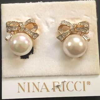 ニナリッチ(NINA RICCI)のニナリッチ ヴィンテージ  パール ビジュー イヤリング  美品(イヤリング)
