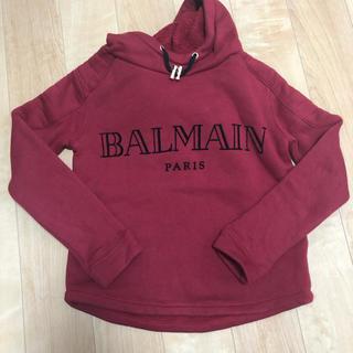 バルマン(BALMAIN)のバルマン8Aロゴパーカー140くらいフード付き裏起毛コットン100(Tシャツ/カットソー)