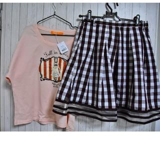 フィント(F i.n.t)のフィント カットソーとスカートのセット(ミニスカート)