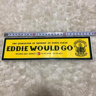クイックシルバー(QUIKSILVER)の超貴重 EDDIE WOULD GO ビッグステッカー(サーフィン)
