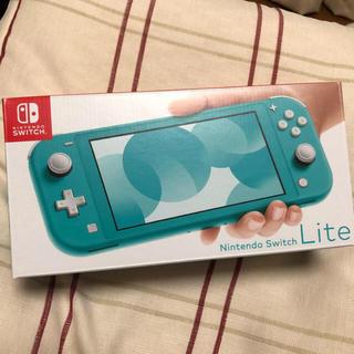 ニンテンドースイッチ(Nintendo Switch)の【新品】スイッチ ライト switch light 本体 ターコイズ(携帯用ゲーム機本体)
