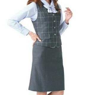 エンジョイ(enjoi)のenjoyオフィスウェア事務服ベスト&スカート(スーツ)
