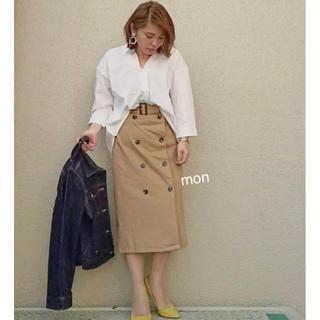 ジーユー(GU)のGU♡トレンチナローミディスカート ♡ベージュ(ロングスカート)
