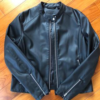 ユニクロ(UNIQLO)のユニクロ 合成皮革ジャケット(ライダースジャケット)