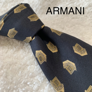 アルマーニ コレツィオーニ(ARMANI COLLEZIONI)のアルマーニ ネクタイ ブラック ゴールド(ネクタイ)