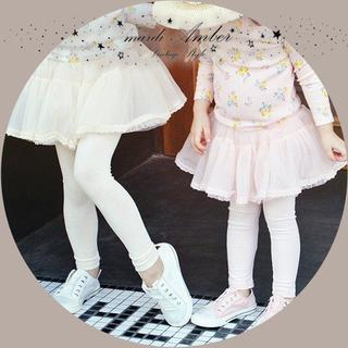 アンバー(Amber)の【100〜130】子供服 シフォン スカート レギンス付き (スカート)