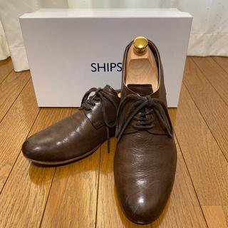 シップス(SHIPS)のシップス SHIPS  ホースレザープレーントウシューズ ダークブラウン(ドレス/ビジネス)