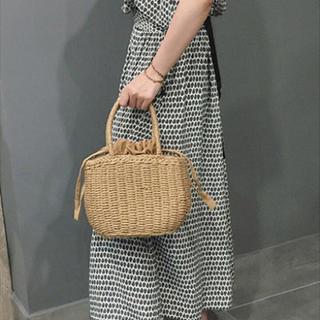 ファティマモロッコ(Fatima Morocco)のペーパー編み カゴバッグ(かごバッグ/ストローバッグ)