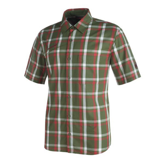 マムート(Mammut)のMAMMUT マムート 半袖シャツ パシフィッククレストシャツ 緑&赤 メンズM(シャツ)