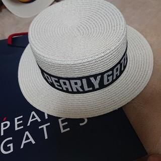 パーリーゲイツ(PEARLY GATES)の【GW限定値下げ】新品未使用♪パーリーゲイツハット(麦わら帽子/ストローハット)