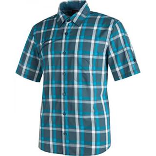 マムート(Mammut)のMAMMUT マムート 半袖シャツ パシフィッククレストシャツ 青&白 メンズM(シャツ)