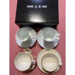 ロイヤルアルバート(ROYAL ALBERT)のカップ&ソーサー 4客 ROYAL ALBERT / コモサ 他 新品 未使用(グラス/カップ)