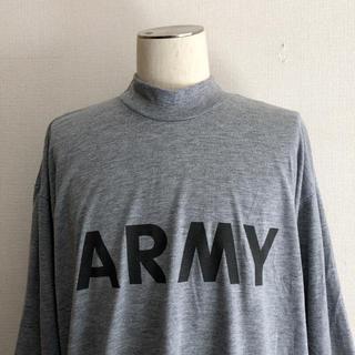 サンタモニカ(Santa Monica)のUS ARMY モックネック 長袖Tシャツ ミリタリー ロンt(Tシャツ/カットソー(七分/長袖))